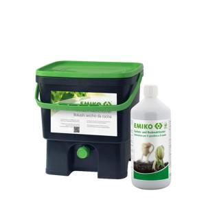 EM Bokashi Eimer 16 Liter  inkl, 1 Liter Bodenaktivator