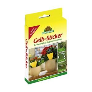 Gelb-Sticker Neudorff 10 Stück
