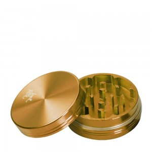 Grinder Black Leaf Alu 2-tlg gold