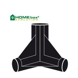 Homebox 3-Wege Verbinder 22 mm 4 Stk