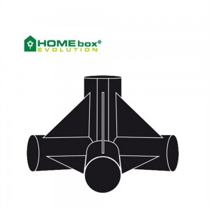 Homebox 4-Wege Verbinder 22 mm 2 Stk