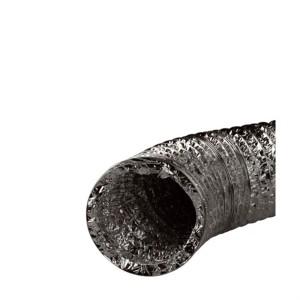 Spiral Luftschlauch Alu 127 mm, 1 m