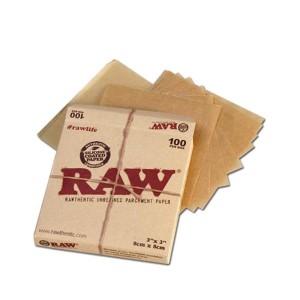 RAW Pergamentpapier Box 100 Stück 8 x 8 cm