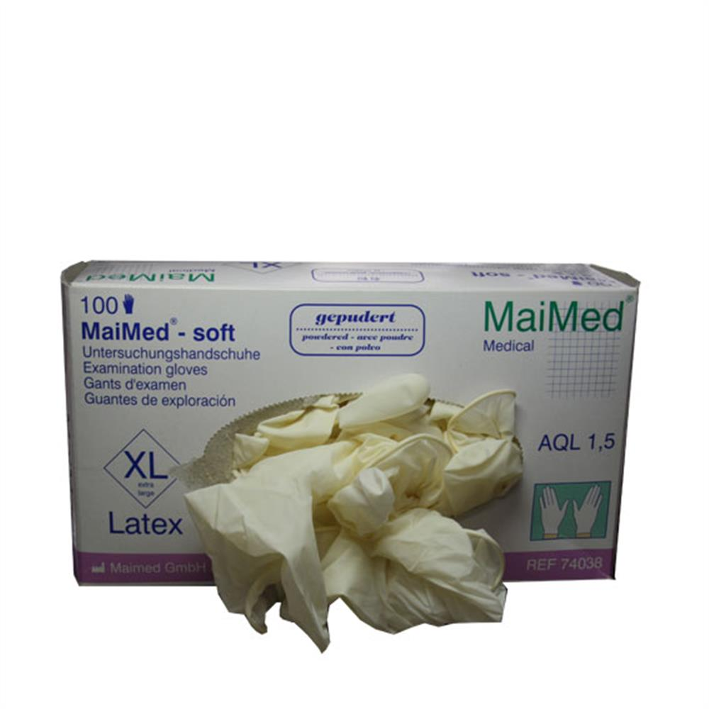 Latex-Handschuhe 1 Paar Größe XL